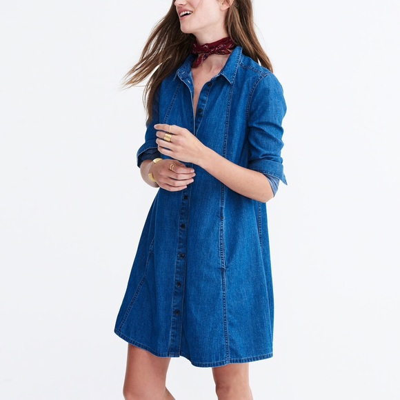 42a646047fd Madewell Dresses   Skirts - Madewell • Denim Shirtdress